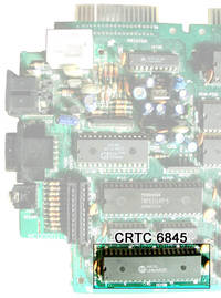 CRTC 6845 on a CPC 6128 motherboard