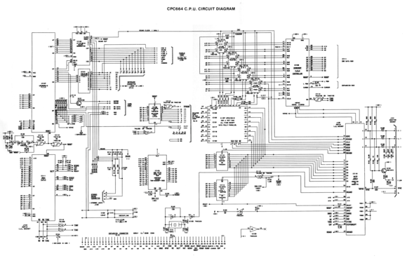 The Amstrad CPC 664 Circuit Diagram (from the CPC 664 Service Manual).