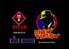 Dick Tracy Title screen (Titus, 1991)