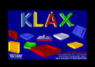 Klax - Title screen (Domark - Tengen, 1990)