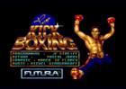 Panza Kickboxing title screen (Loriciel, 1991)