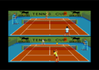 Tennis Cup 2 - Ingame screen (Loriciel, 1990)