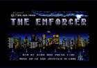 The Enforcer - Title screen (Trojan, 1990)