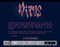 "Néophyte 3: Article about the french mag ""Le Virus Informatique"". Nice logo there."
