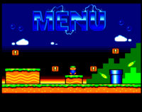 Néophyte 4: An Amstrad-like main menu (unfinished)