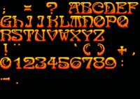 Font used in Soul Almighty (1998)