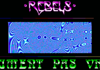 Colors/Rebels - The Main part. The Rebels logo originally comes from Artifical Dreams by Rebels on Amiga and was drawn by Static.