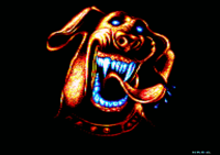 Rex. Original picture named The Dog, by Cougar/Sanity on Amiga (ranked #2 at The Party 91).