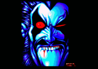 Avenger. This picture of Lobo originally comes from Chit Chat 8 (Intro-pic), an Amiga discmag, and was done by Hof.