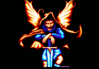Dark Elf. Original picture named Broadsword by Illuvator on Amiga (ranked #27 in gfx compo at The Party 91, used in Alcatraz museum slideshow and various Amiga discmags).