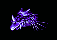 This dragon head originally comes from the picture Guardian Dragon, by RWO, in the Masterpieces slideshow by Kefrens on Amiga.